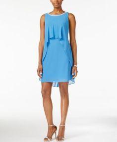 SL Fashions Embellished Sleeveless Sheath Dress
