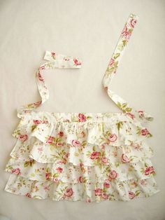 FLORAL Ruffle Apron for WOMEN by 2021leslie on Etsy