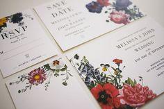 Vintage Botanical Wedding Invitations Printable - Set of 4. $74.00, via Etsy.