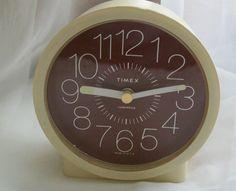 Vintage alarm clock Timex clock  Timex alarm by NewtoUVintage
