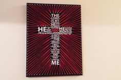 Bible verse Psalm 23 string art. String color and size are customizable. Available at asherthing.etsy.com