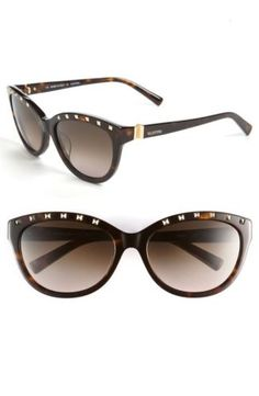 NEW 100% Authentic Valentino Brown Rockstud Sunglasses V641S 54MM (Retail $370)