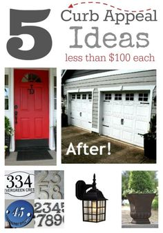 5 Ways to Add Instant Curb Appeal for less than $100 each.