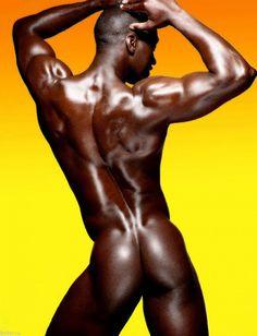 Dark black naked man pic 961
