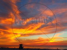 Beach Sunset Poster Print Clearwater Florida 11x14 12x16 16x20 20x24 20x30 by PierPrints on Etsy https://www.etsy.com/listing/215856712/beach-sunset-poster-print-clearwater