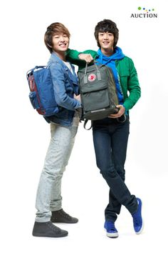 Onyu & Minho(both from SHINee).  A commercial image for Korean auciton site @2011