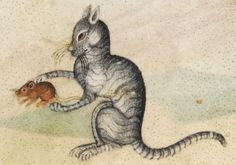 This gothic cat isn't that repugnant. Well done. | 23 Medieval Cat Paintings That Are So Ugly You Could Cry