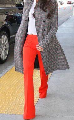 red medium rise slacks   keeping it pro