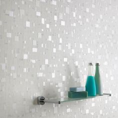 Spa Tile Wallpaper - Bathroom Wall Coverings by Graham Brown Bathroom Wall Coverings, Bathroom Accent Wall, Metallic Wallpaper, Spa Tile, Tile Wallpaper, Glamorous Bathroom, Bathroom Accents, Wallpaper Bathroom Walls, Bathroom Design