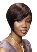 Cute Short Silky Straight Tapered Side Capless Bob Wig