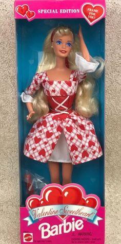 Mattel Barbie Valentine Sweetheart Doll 1995 Special Edition NRFB #14644 #Mattel #Dolls