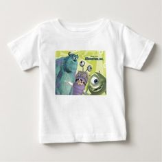 Monsters, inc. movie poster disney baby t-shirt - tap, personalize, buy rig Baby Shirts, Shirts For Girls, Monsters Inc Movie, Boy Halloween Costumes, Disney Shirts For Family, Movie T Shirts, Stylish Baby, Diy For Girls, Baby Disney
