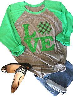 St Patricks Day Women Clover Green T Shirt Long Sleeve Irish Raglan   saintpatricksday  stpatricksday  stpattys  stpattysday  shamrocks   stpaddysday  ad c8ca11cec9ac1