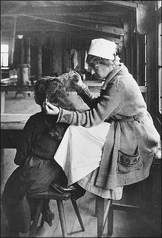 Before you were able to travel, you had to undergo lice inspection at Ellis Island. Maggie Moyer