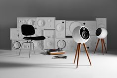 1960s James Bond-inspired retrofuturistic design comes together in a pair of wireless audio speakers that may leave you both shaken and stirred.