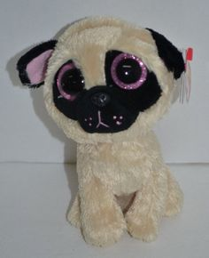 8fb18ab4c75 Pugsly 2013 Ty Beanie Babie Boos 6in Pug Dog Solid Eyes Purple Hangtag  36079 for sale online