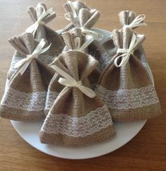 Hessian And Lace Favour Bags The Supermums Craft Fair