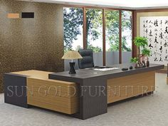 office furniture – My WordPress Website Executive Office Furniture, Modern Office Desk, Office Furniture Design, Office Table, Office Interior Design, Office Interiors, Home Interior, Corner Office, Office Cabin Design