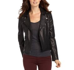 Handmade new style with double collar style leather jacket with zipper style and front zipper closer style