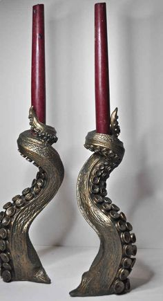 These tentacle candle-holders.