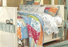 Hibiscus Quilt from PB Teen...Made from 100% cotton percale in a 200 thread-count construction, this creative mix of patterns fr...