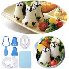 I didn't realize there were specialized tools for making cute food for kids' bento lunch boxes.
