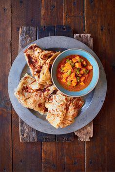 Malaysian Flatbread (Roti Canai) - The Happy Foodie