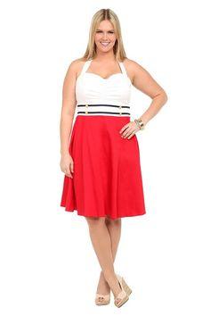 Retro Chic By Torrid - Sailor Halter Dress | Dresses