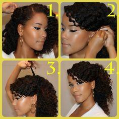 Strange Natural Hair Tutorials Samantha Harris And Natural Hairstyles On Hairstyle Inspiration Daily Dogsangcom