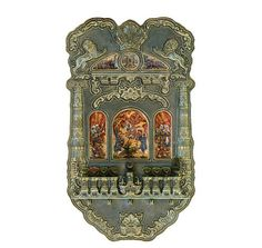 This one of a kind hand sculpted Russian Silver Sterling oil Hannukiah lamp with Enamel Hand paintings panels. The artist well painted the Jewish temple In Jerusalem & the victory of the Jaws over the Greeks. More history about this masterpiece available at http://www.ivoryandart.com/product/silver-judaica-huge-silver-menorah-the-temple/ #art #sculpture #sculptures #antique #antiques #artist #ivory #netsuke #mammoth #arts #mould #craft #decor #handmade #sculpted #silver #bronze #free…