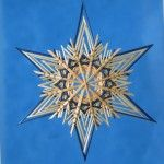 blue and natural straw star