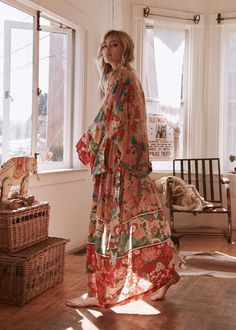 California dreaming in the Spell Designs Ruby Patchwork Maxi Kimono at shopblacksalt.com! (also available in short length)