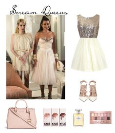 """Scream Queens"" by gimcdonnell ❤ liked on Polyvore featuring Chanel, Maybelline, Michael Kors, Valentino, women's clothing, women, female, woman, misses and juniors"