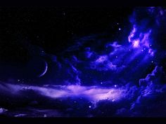Blue Stars Outer Space | Blue Clouds Outer Space Stars Planets Purple wallpaper