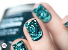 DRY MARBLE nail art tutotrial | Pshiiit