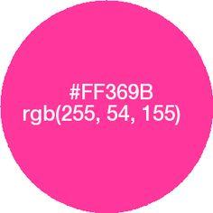 #FF369B color - Pesquisa Google