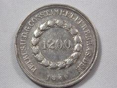 Moeda de prata - RARIDADE - Brasil Imperio - 1200 Réis - 1840 - 633 Peças Cunhadas - Amato P556a - c