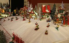North Pole Carved Styroam Village Display