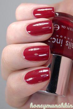 Nails Inc. - Tate #nailpolish Red Nail Polish, Red Nails, Hair And Nails, Nails Inc, Cosmetics, Beauty, Red Toenails, Red Nail, Beauty Illustration