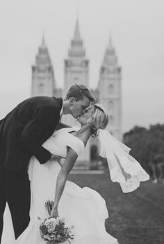 Salt Lake LDS Temple Wedding #LDStemples #MormonTemples