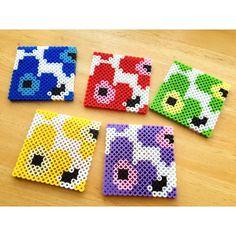 Marimekko coasters perler beads by yakka17