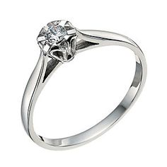f9b9a05bd 9ct White Gold Diamond Solitaire Ring - Product number 9579087 Gold  Solitaire Ring, White Gold