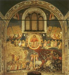 FINAL JUDGEMENT BY GOD   This is Giotto's largest work in the Arena Chapel.