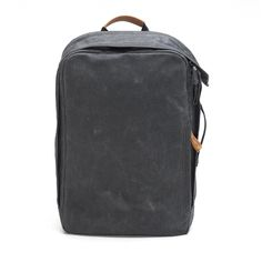 QWSTION Backpack Washed Black