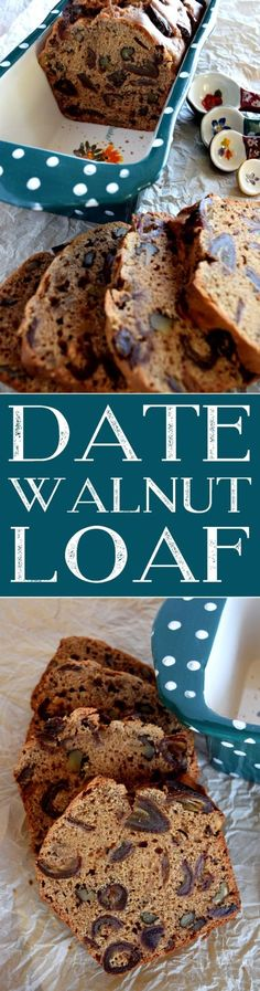 Date Walnut Loaf - Dates. Love 'em or hate 'em? I'm sure if you lean more toward the hate side, this Date Walnut Loaf will change your mind! Best Bread Recipe, Quick Bread Recipes, Easy Bread, Best Dessert Recipes, Easy Desserts, Fall Recipes, Brunch Recipes, Baking Recipes, Cookie Recipes