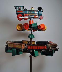 Train whirligig, by Hutch studio