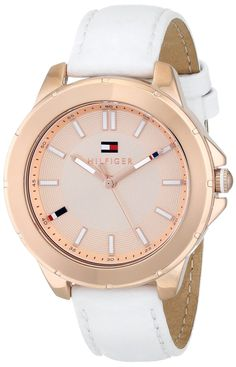 588bd798 women watches: Gold watches store Tommy Hilfiger Women's 1781432 Analog  Display Quartz White Watch Army