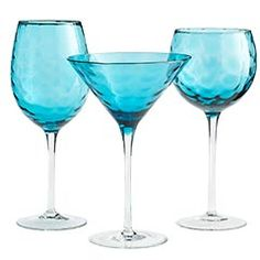 Waterfall Blue Stemware - Pier 1.   Another beautiful set.  No tumblers though to complete it, but still cute all the same!