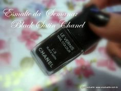 Vivy Duarte: Esmalte da Semana: Black Satin Chanel + Look das U...