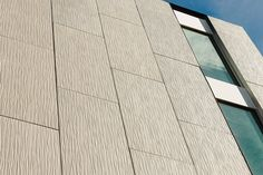 """TAKTL® Facade + Wall Elements allow architects and designers to create subtle or dramatic articulated facades that are easy to design, specify and install. Our TAKTLSTANDARD program includes five Raised Textures: Crinkle, Grass, Reeds, and Arbos 1 + 2 with thin profiles: 5/8"""". Our standard textures and colors can add richness and character to cladding on existing or new construction and are an excellent material for ventilated facades."""